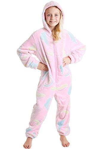 CityComfort Einhorn Onesie, Jumpsuit Mädchen, Schlafanzug Mädchen (7-8 Jahre, Rosa)