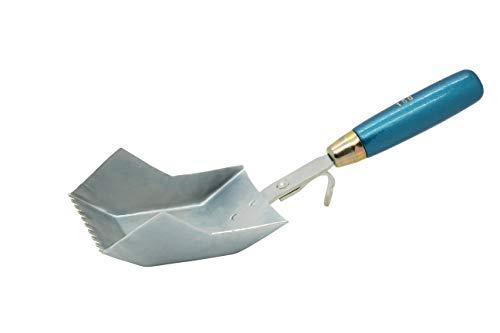 Jung Henkelmann Klebekelle (für Porenbeton, Breite 100 mm, Stahl verzinkt, mit Holzgriff, Zahnung 5) 87010000