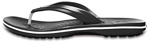 crocs Unisex-Erwachsene Crocband Flip Flop Zehentrenner, Schwarz, 45/46 EU