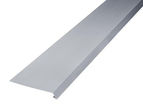 INEFA Dachstreifen, einseitig gekantet Grau 200cm - aus Kunststoff, für Dachrinne, gekantet, Zubehör für Gartenhaus, Regensammler, Fallrohr