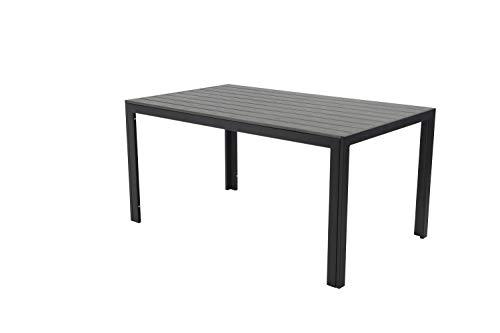 Pure Home & Garden Aluminium Gartentisch Fire XXL mit Polywood Tischplatte, 180x90 absolut wetterfest, anthrazit aus dem Hause