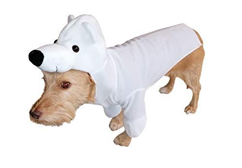 Seruna Hund-e Kostüm-e Eisbär FH01 Gr. M, Hunde-Bekleidung klein mittel groß Bär-en Faschings-Kostüm für Haus-Tiere Karneval-s