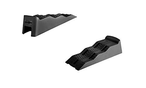 Brunner 7110105N.C03 Camping Auffahrkeile Leveller Ausgleichskeile Stufenkeile Equalizer, XL, Schwarz
