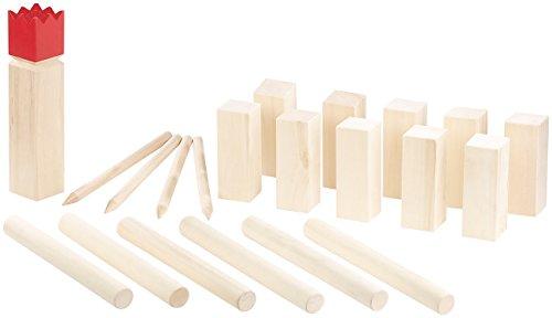 Playtastic Wikingerspiel: Wikinger-Spiel aus Holz, ideal für Wiese, Strand & Co. (Wikingerspiel Holz)
