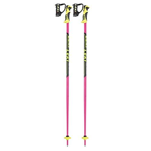 LEKI Unisex-Adult Sports Skistock, Pink-Black-White-Yellow, 105