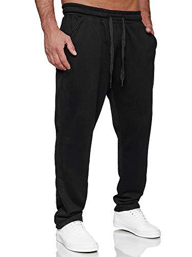Tazzio Herren Jogginghose Regular Fit Sporthose Fitness Freizeit Hose Trainingshose Sweat Sweatpants Jogger   C100 Schwarz L