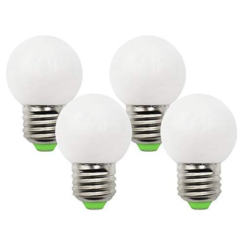 3W E27 G45 Golf LED-Birnen 230V Warmweiß 2700K Ersatz für 30W Halogenlampe E27 Dimmbares Schraublicht -Packung mit 4[MEHRWEG]
