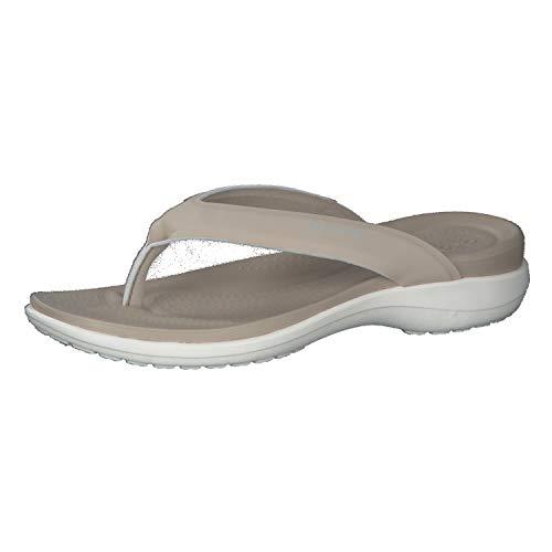Crocs Damen Capri V Sporty Flip, Cobblestone, 42-43