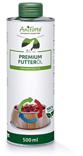 AniForte Barf Futteröl für Hunde 500ml - kaltgepresstes Premium Öl, idealer Barf Zusatz fürs Futter, Hochwertiges Barf Öl, Natürlich, Artgerecht und Ausgewogen, Recyclebare Verpackung ohne BPA