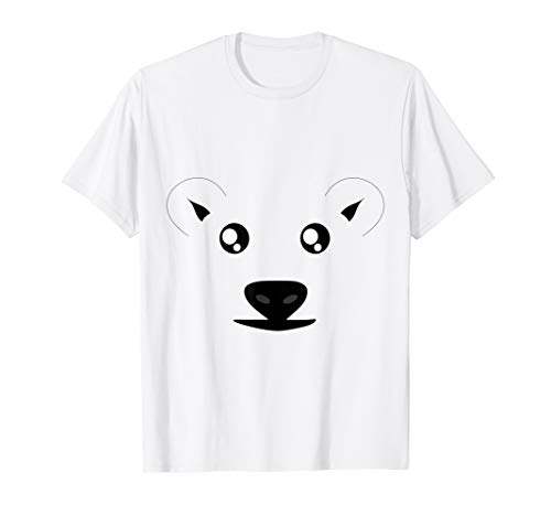 Lustiges Eisbär Kostüm Fasching Karneval Polarbär T-Shirt