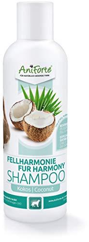 AniForte Fellharmonie Shampoo mit Kokosöl-Extrakt & Aloe Vera 200ml Hundeshampoo Kokos-Shampoo – Pflegeshampoo für Hunde