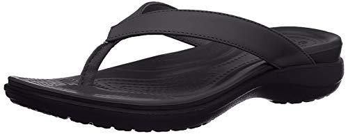 crocs Damen Capri V Flip Flop, Schwarz (black/graphite), 42/43 EU