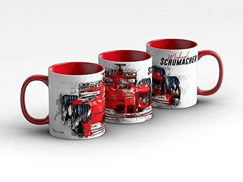 gasoline.gallery Formel 1 Tasse - Michael Schumacher - Scuderia Ferrari - 2000 Front Kaffeebecher Rot