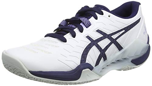 ASICS Damen Blast FF Handball Shoe, White/Peacoat, 40 EU