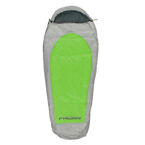 Fridani Kinderschlafsack EG 180x75cm XL Mumienschlafsack -11°C Grün warm wasserabweisend waschbar
