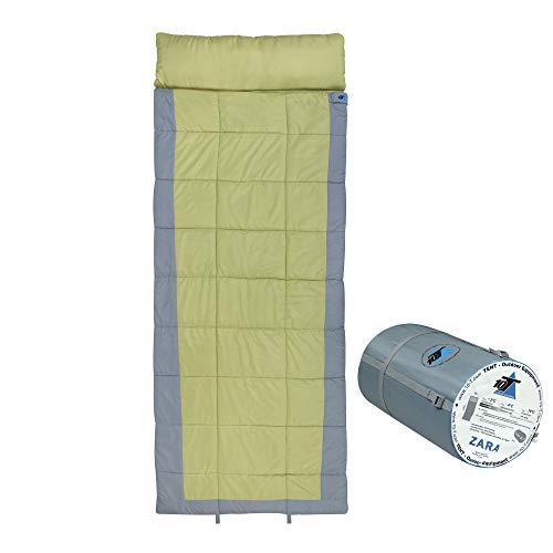 10T Schlafsack ZARA -13° warm weich 2250g leicht XXL Deckenschlafsack 230x90 Grün / Grau