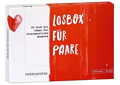 Losbox für Paare I Das Paar-Geschenk für 50 unvergessliche Momente I 50 Lose mit Ideen für Spiel, Spaß & viel Liebe I Zum Geburtstag, Jahrestag & zur Hochzeit für Mann, Frau, Freundin