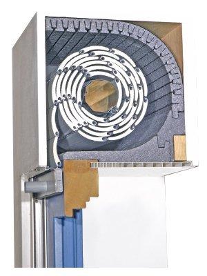 Rolladenkastendämmung TRI-Flex-TF mit Schallschutz-25 mm-Verschlußdeckel 175 mm