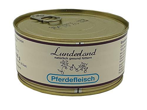 Lunderland Pferdefleisch 5 x 300g Dosen (insg. 1,5 kg), Einzelfuttermittel für Hunde und Katzen
