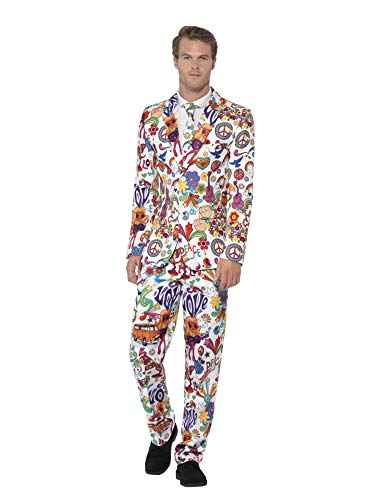Smiffys 24592L - Herren Groovy Anzug, Größe: L, mehrfarbig