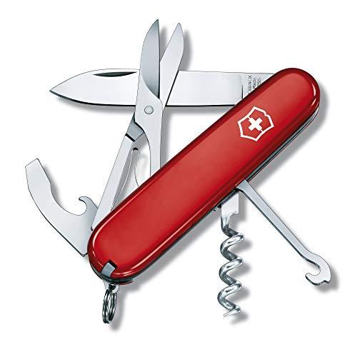 Victorinox Taschenmesser Compact (15 Funktionen, Schere, Mehrzweckhaken) rot