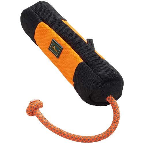 HUNTER Trainer Snack Dummy mit Wurfseil, 37 cm, orange/schwarz