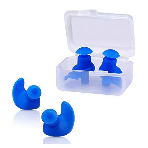 ZHAOYANG wasserdichte Ohrstöpsel für Kinder aus Silikon - Komfortable Ohrenstöpsel zum Schwimmen, Tauchen und Schnorcheln - Ohrschutz gegen Wasser mit Aufbewahrungsbox
