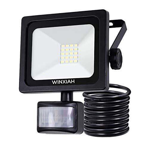 LED Strahler mit Bewegungsmelder Fluter Außen Lampe Aussen Licht Motion Sensor 10W Garten Outdoor Aussenstrahler IP66 Wasserdicht Außenstrahler Beleuchtung Floodlight [Energieklasse A++]
