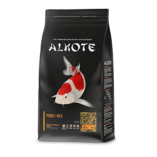 AL-KO-TE, 3-Jahreszeitenfutter für Kois, Frühjahr bis Herbst, Schwimmende Pellets, Hauptfutter Profi Mix