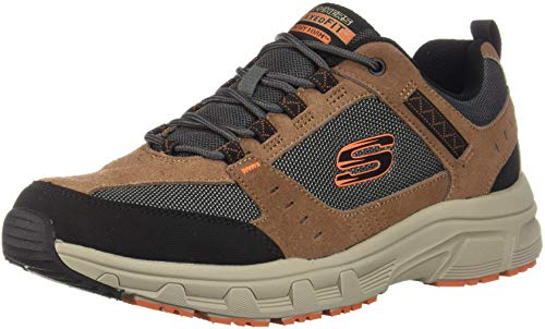 Skechers Men's OAK CANYON Sneakers, Brown (Chocolate Black Chbk), 7 (41 EU)
