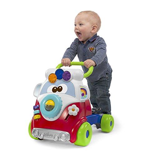 Chicco Happy Hippie 2in1 First Steps Lauflernwagen mit Aktivitätszentrum für Kinder, Bunte Lauflernhilfe mit 4 großen Rädern, Lernspiele für Jungen und Mädchen - Kinderspielzeug 9-24 Monate