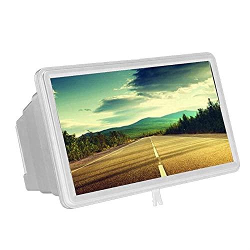 E E-NICES Tools 3D-Mobiltelefon-Bildschirm-Lupe HD-Verstärkungsständer-Film 1.5x Smartphone-Desktop-Verstärker Flexible optische Instrumente (Color : White)