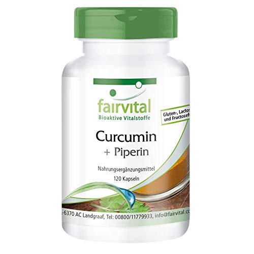 Kurkuma Kapseln - 500mg Curcuma Extrakt pro Kapsel - HOCHDOSIERT - Curcumin 95% mit Piperin - 120 Kapseln