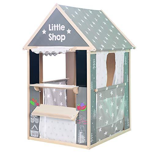 roba Spielhaus-Kombination, enthält Kaufladen, Kasperletheater, Tafel, Schalter für Post/Bank/Kiosk 6962V190