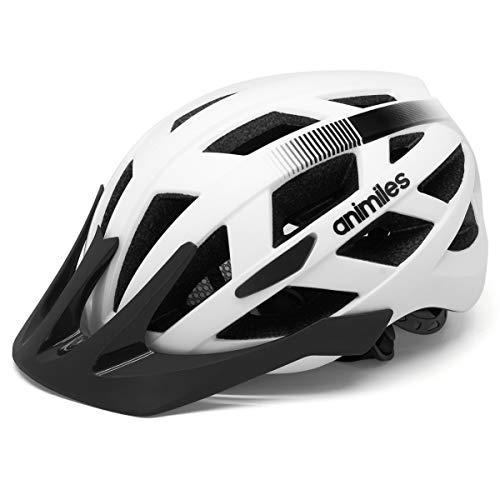 ANIMILES Fahrradhelme für Erwachsene mit leichtem, coolem und schlankem Fahrradhelm Leichter Fahrradhelm für städtische Pendler Einstellbare Größe für Erwachsene Männer/Frauen… (Weiß)