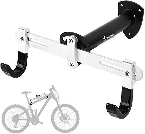 Sportneer Fahrradhalter-Wandhalterung, Fahrrad Indoor Aufbewahrung Rack Aufhänger für Rennrad, Mountainbike, BMX, Winkel breite Länge einstellbar