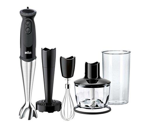 Braun MultiQuick 5 Vario MQ 5137 Sauce Plus Stabmixer, 750 W, Zerkleinerer (500 ml), Kartoffel- und Gemüsestampfer, Edelstahl-Schneebesen, EasyClick System, PowerBell Technologie