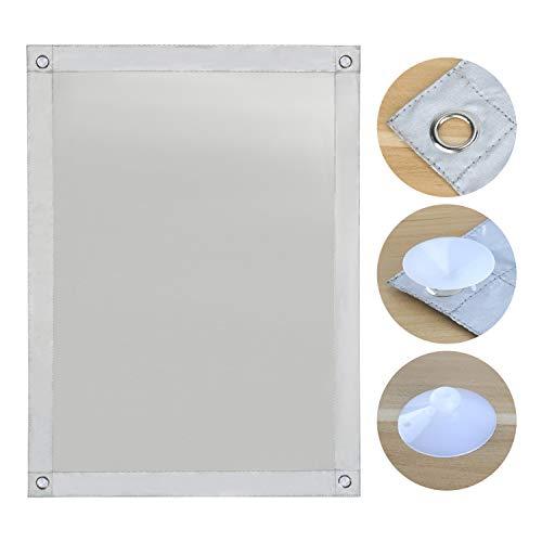 OBdeco Thermo Rollo Dachfenster Sonnenschutz Verdunkelungsrollo für Velux Hitzeschutz ohne Bohren mit Saugnäpfen (Weiß, 76x115cm)