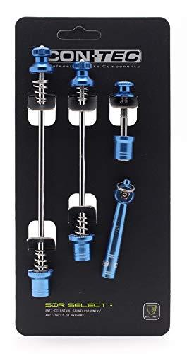Contec Unisex– Erwachsene SQR Select + Schnellspannerset, Blue steel, Set