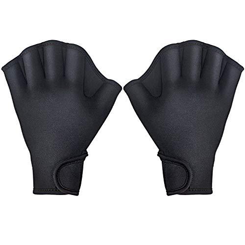 TAGVO Aquatic Handschuhe für den Oberkörperwiderstand, Schwimmhandschuhe mit Trageschlaufe, gut nähen, kein Ausbleichen, Größen für Männer Frauen Erwachsene Kinder