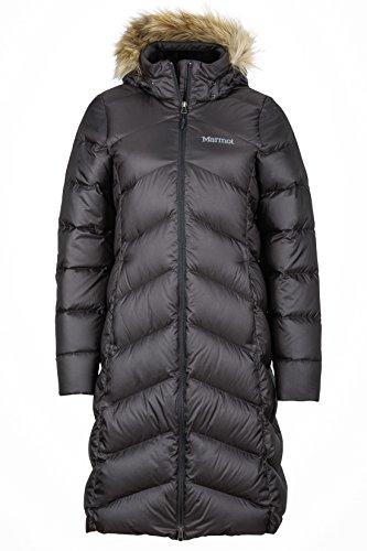 Marmot Damen Leichte Daunenjacke, 700 Fill-Power, Warmer Parka, Wintermantel, Wasserabweisend, Winddicht Wm's Montreaux Coat, Black, M, 78090