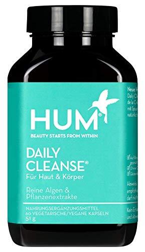 HUM Daily Cleanse Nahrungsergänzungsmittel - reine Haut mit Bio-Algen, 14 Kräutern, Vitaminen & Mineralien zur Unterstützung der Reinigung des Körpers (60 Vegane Kapseln)