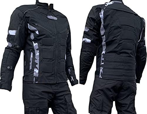 L&J Motorradjacke - Jacke herausnehmbare Protektoren - Textil Motorrad Jacke Quad (xx_l)