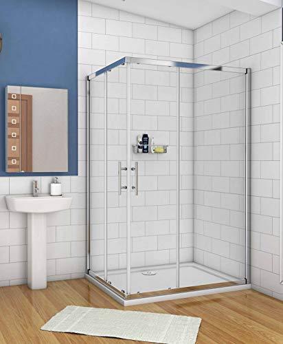 Duschkabine 110x80cm Schiebetür Duschwand Dusche 6mm ESG Sicherheitsglas Höhe 195cm Duschabtrennung