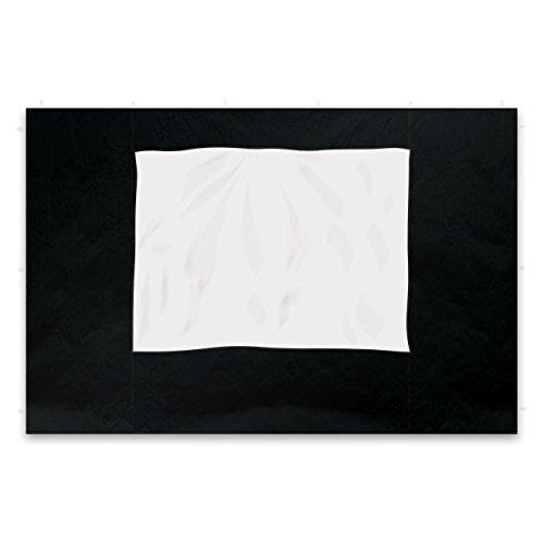 Nexos 2 Stück Seitenteile Seitenwände Ersatzwände mit Fenster für Profi Falt-Pavillon Festzelt – hochwertig – 295 x 215 cm/PE 180 g/m² – schwarz