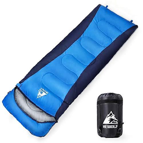 HEWOLF Schlafsack 3-4 Jahreszeiten Deckenschlafsäcke Warmer Winterschlafsack Wasserdichter Mumienschlafsäcke Leichter Umschlag Schlafsack für Camping Angeln 5°C-15°C 1,8KG Reißverschluss Links