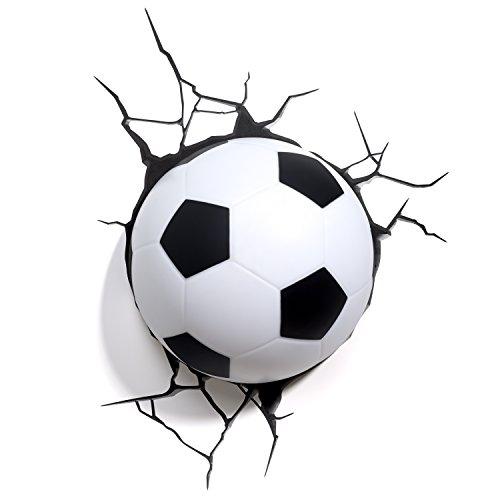 Fußball Wandlampe 3DLightFX kinderlampe Nachtlicht Für Kinder Mit Wandaufkleber
