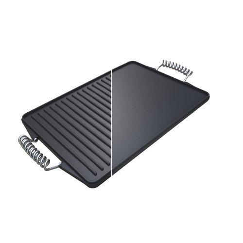Campingaz 2000014577 Kontakgrillplatte Premium aus Gusseisen, schwarz (44 x 24 x 5 cm)