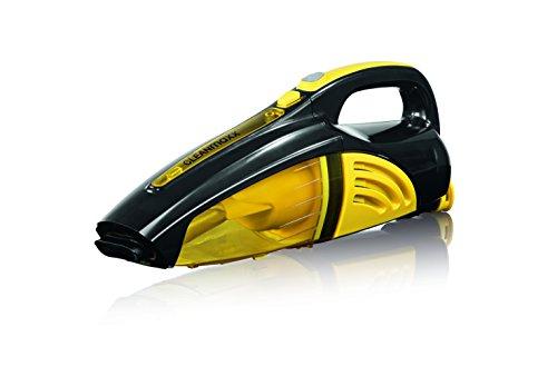 CLEANmaxx 00973 Akku-Handstaubsauger | Nass- und Trockensauger | Kabelloser Akkusauger | 40 Watt | Schwarz/Gelb