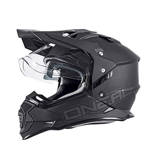 O'NEAL Sierra II Adventure Enduro MX Motorrad Helm Flat schwarz 2020 Oneal: Größe: M (57-58cm)
